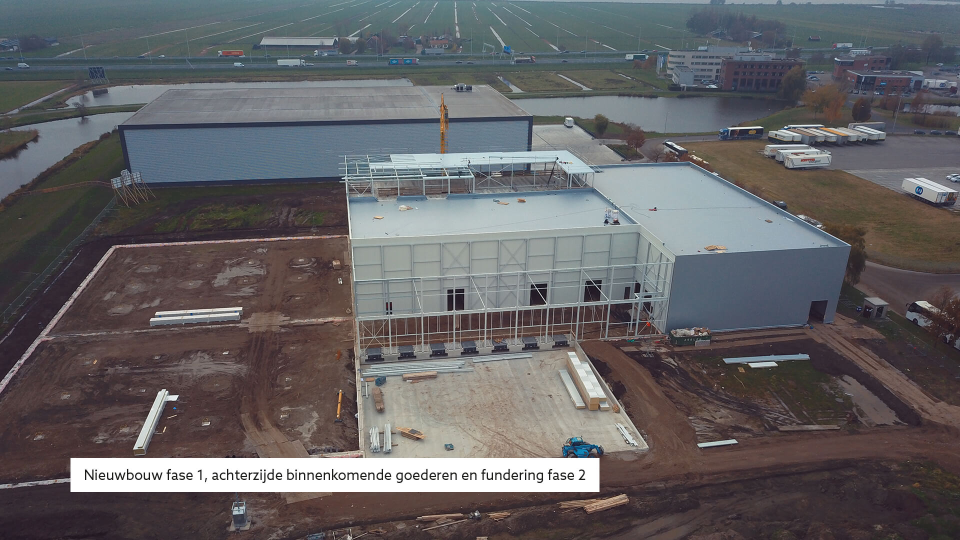 MAAZ Cheese bouw fase 1 distributiecentrum